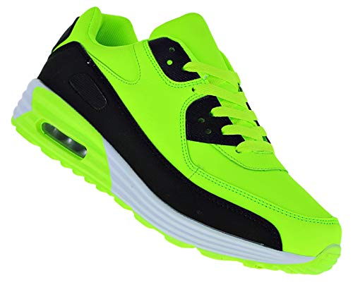 Bootsland Neon Turnschuhe Sneaker Sportschuhe Luftpolstersohle Herren 039, Schuhgröße:44, Farbe:Modell 3