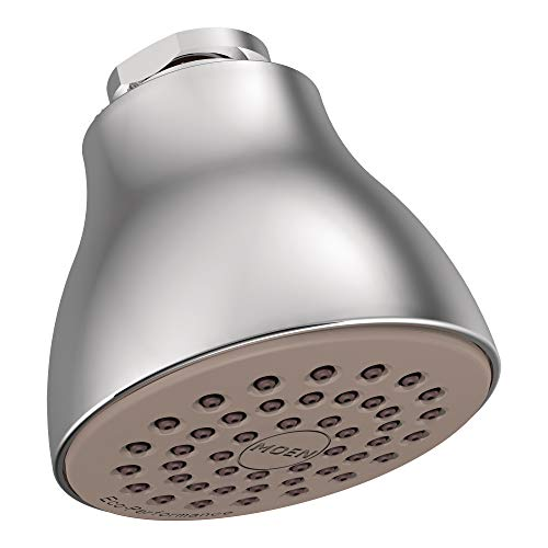 Moen 6300 One-Function 2 1/2-Inch Diameter Spray Head Standard Showerhead, Chrome