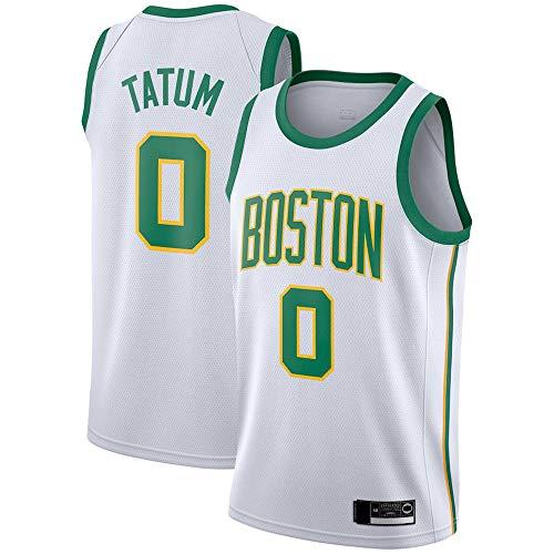 XXMM Ropa De Baloncesto para Hombre - Camiseta Deportiva NBA Boston Celtics # 0 Jayson Tatum, Confeccionada para El Uso Diario Y El Juego De Baloncesto, Poliéster, Sin Mangas,M(170~175CM)