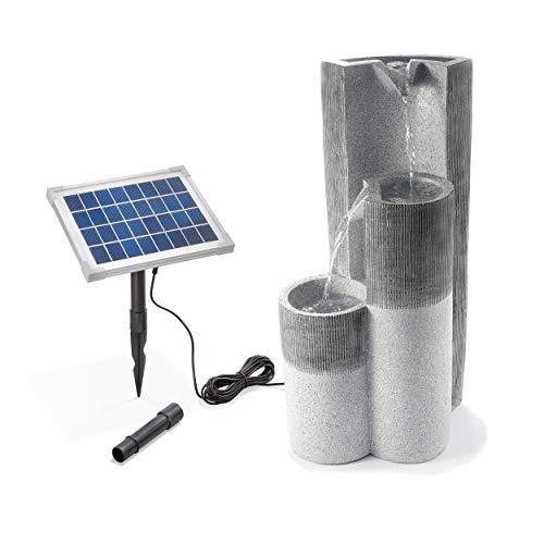 Solar Gartenbrunnen Smart Fountain - extragroßes 5 Watt Solarmodul, Solarpumpe mit Direktbetrieb - 300 x 250 x 625 mm - Springbrunnen Wasserspiel Kaskadenbrunnen Garten Solarbrunnen, esotec 101312