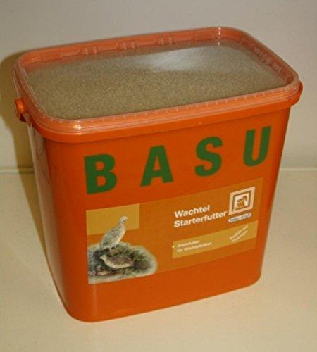 BASU Wachtel-Starterfutter Wachteln Fasane Perlhühner Rebhühner Puten, 7 kg