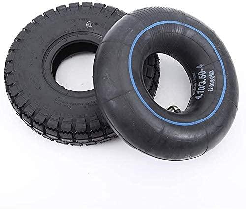 Neumáticos para patinetes eléctricos,4,10/3,50-4 Neumáticos inflables interiores y exteriores,antideslizantes y de alta...