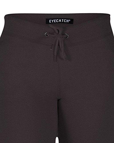Eyecatch - Vela Ladies Capri Crop Jogger Pants Gym Bottoms Womens 3/4 Cropped Trousers Black Medium