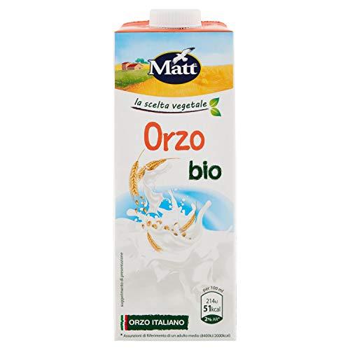 Matt - Bevanda Vegetale Orzo Bio - Senza Lattosio e Senza Zuccheri Aggiunti - 1l