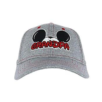 Disney Men s Mickey Mouse Grandpa Fan Baseball Cap Grey