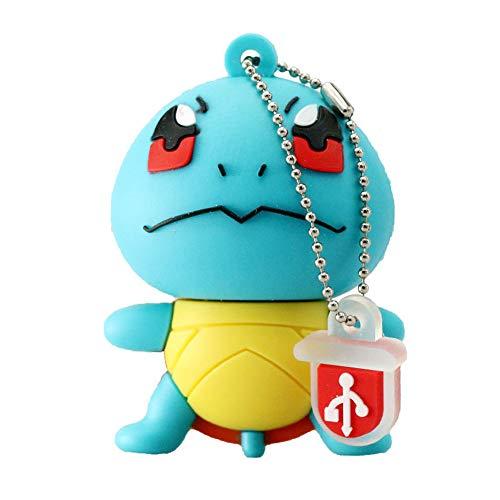 Clé USB Pen Drive Flash USB 2.0 Pokémon Rôle Série U Disque créatif clé chaîne Portable Haute Vitesse Transmission de données (4GB,Squirtle?1?)