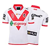 Maillot de Rugby,2019 St.George Home Rugby Polo Shirt Training T-Shirt, Supporter Football Sport Top, Cadeau d'anniversaire-XXL