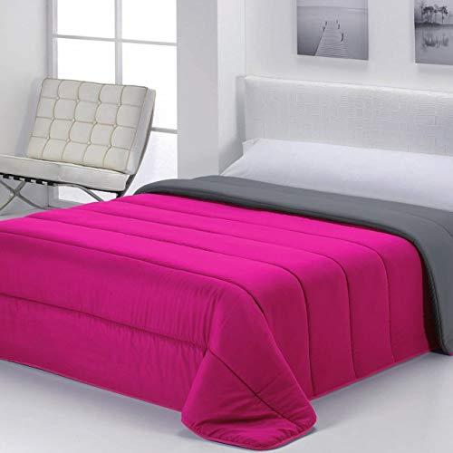 Energy Colors Textil - Hogar - Moscow - Edredón/Relleno Nórdico Reversible Máxima Calidad Transpirable 350 gr/m2 Microfibra Alta Densidad Invierno/Otoño (Fucsia Line, Cama 135 y 150 (240 x 260 cm))