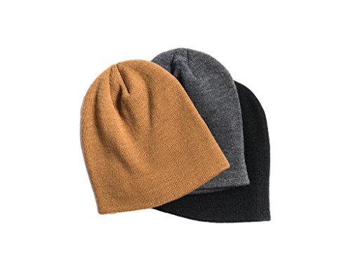 MUK LUKS Men's 3 Pack Beanie Set, Multi, One Size Fits Most
