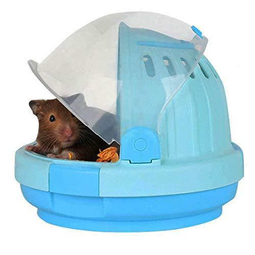 Hamster-Transportbox für syrische Hamster, Kleintiere, Hamsterzubehör mit 60 ml Wasserflasche