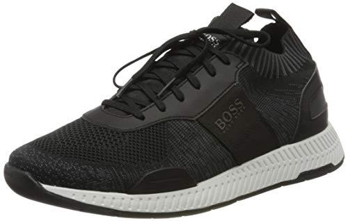 BOSS Herren Titanium_Runn_ks20 Sneaker, Schwarz (Black 001), 45 EU