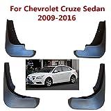 SLONGK 4Pcs / Set Car Mudflaps Splash Guards Mud Flap, para Chevrolet Cruze Sedan 2009-2016