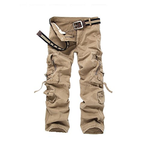 Cool&D Herren Cargo Hose Loose Casual Freizeit Sports Hose Arbeitshose mit Multi Pockets