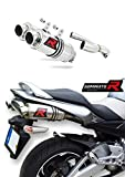 GSR 600 Pot d'échappement Rond Silencieux Dominator Exhaust Racing Slip-on 2006 2007...