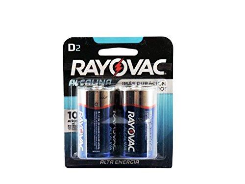 Rayovac D Alkaline Batteries, 813-2F, 2-Pack