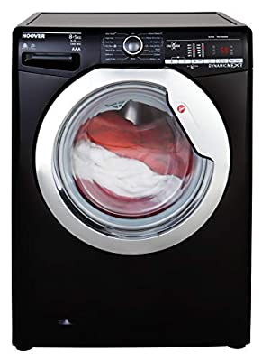 Hoover WDXOA485ACB Freestanding Washer Dryer, NFC Connected, 8Kg Wash/5Kg Dry Load, 1400rpm Spin, Black