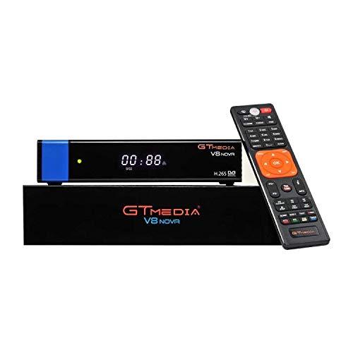 Vlogdeals GTMEDIA V8 NOVA Blue Full HD 1080P DVB-S2 FTA Digital Satellite Receiver Support H.265, PowerVu, Biss Key, Built-in WiFi