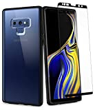 Spigen Ultra Hybrid 360 Galaxy Note 9 Case with 360 Full Body Coverage Protection with Tempered Glass Screen Protector for Samsung Galaxy Note 9 (2018) - Matte Black