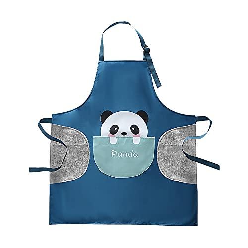 Cute Animal Panda Apron Cartoon Waterproof Chef Cooking Kitchen BBQ Adjustable for Kids Teens and Women