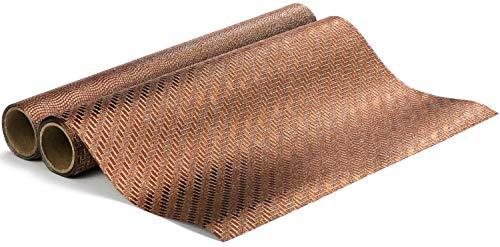 COM-FOUR® 2x tafellint voor decoratie voor Kerstmis en bruiloften - bronskleurige tafelloper met verschillende patronen [selectie varieert] (02 stuks - bronskleurig)