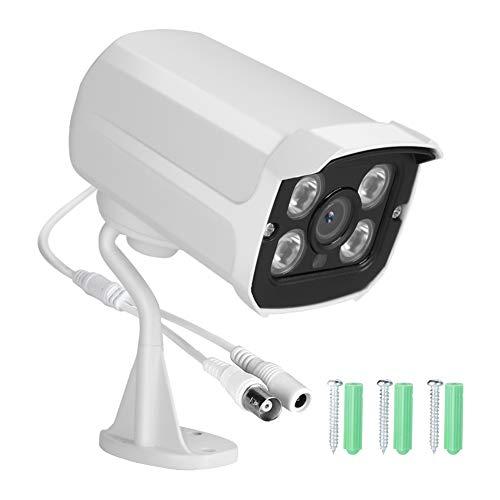 Qinyayoa Cámara de Seguridad AHD, cámara AHD 4 en 1 AHD/CVI/TVI/CVBS, cámara de Seguridad para el hogar HD 1080P, para día y Noche en Exteriores/Interiores