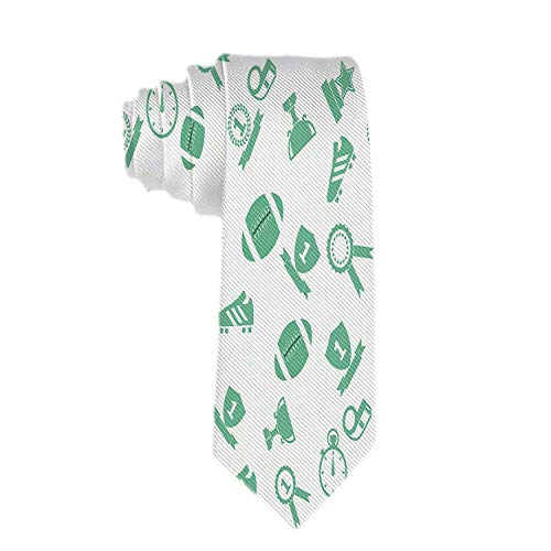 Mens Polyester Textil Krawatten American Football Spo Seidenkrawatte Krawatten
