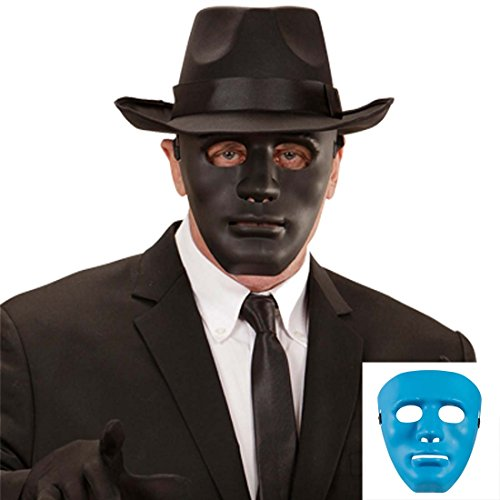 Amakando Phantom Maske Faschingsmaske schwarz Schwarzer Mann Gesichtsmaske Casanova Theatermaske Geistermaske Karnevalsmaske Maskenball Accessoire