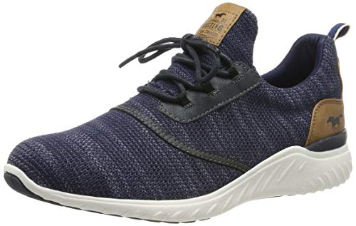 MUSTANG Shoes Halbschuhe in Übergrößen Blau 4132-301-820 große Herrenschuhe, Größe:50