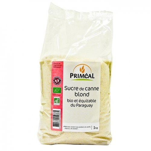 Priméal Sucre de Canne Blond 1 kg 1 Unité