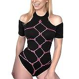 Littleforbig Cotton Romper Onesie Pajamas Bodysuit  All Tied Up M