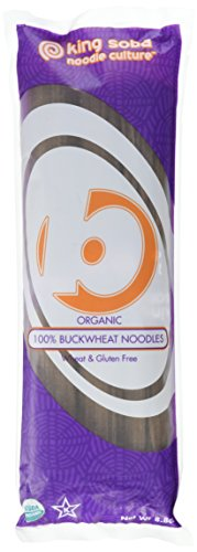 King Soba 6-PACK Gluten Free & Organic 100% Buckwheat Pasta Noodles 8.8oz - 3 Servings Per Pack