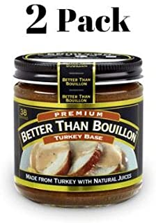 Better Than Bouillon Premium Turkey Base 8oz (2 Pack) in a Prime Time Direct Sealed Bag