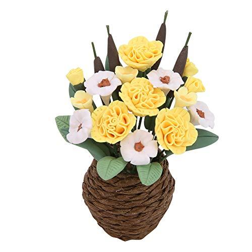 XINL Casa de muñecas Flor Bonsai, Planta en Miniatura, Duradera para niños Casa de muñecas a Escala 1/12