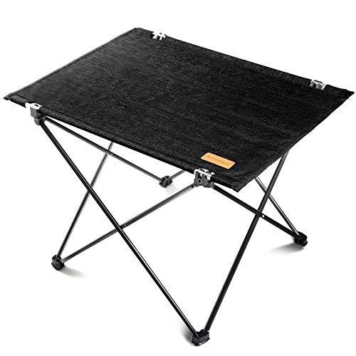 Mozambique(モザンビーク) キャンプ テーブル ロールテーブル アウトドア 折りたたみ 軽量 アルミ製 ピクニック 【インテリアとしても使えるアウトドアテーブル】 (ブラック)