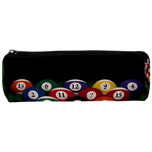 TIZORAX Billiard-Ball mit Zahlen Federmäppchen Stifte-Reißverschluss-Tasche Münzorganizer Make-up-Tasche für Damen, Teenager, Mädchen, Jungen, Kinder