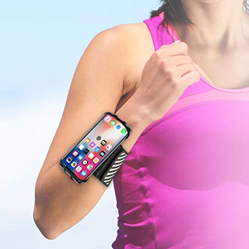 WANPOOL Walking Wristband/Forearm Band Phone Holder for iPhone Xs/X and Other 4.5 – 6 Inch Phones