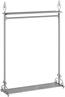 sans marque JIE- Nordic Style Garment Rack Double-Layer Storage Board Clothing Rack Golden Silver Wrought Iron Coat Rack, ...