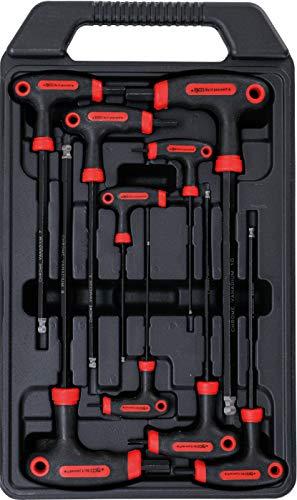 Kraftmann 7882 | Schraubendreher-Satz mit T-Griff und seitlicher Klinge | Innensechskant | 2 - 10 mm | 9-tlg.