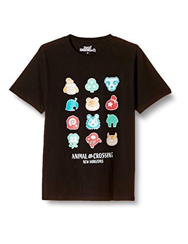 [ドウブツノモリ] Tシャツ 半袖 メンズ アイコン あつまれどうぶつの森 どう森 グッズ ブラック M