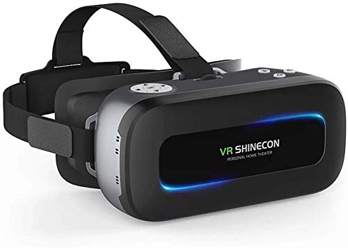 3D VR Virtual Reality Headset, VR Glasses 360 Degree Immersive Videos/Movies/Games for iPhone 5 6s Plus Samsung S6 Edge Note 5 LG G3 G4 Nexus 5 6P (AIO-01)
