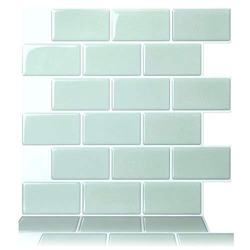 lingqing Adhesivo de pared 3D PVC creativo adhesivo de pared azulejos de cerámica impermeable decoración del hogar decoración de la cocina