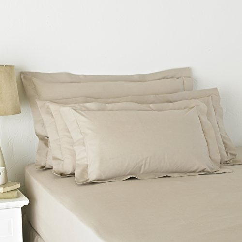 Great Knot Easy Care 180 Nombre de Percale Discussion Pillowcases, Oxford 50 x 90 cm, Blossom Brown
