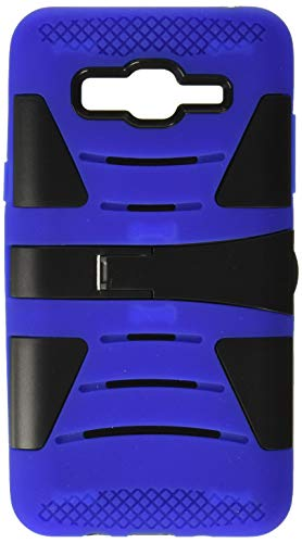 HR Wireless Cell Phone Case for Samsung Galaxy On5 - Black(PC)/Dark Blue(Silicone)