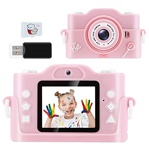 ROXTAK Kids Toys for 3-10 Year Old Boys Girls, Kids Camera 1080P 2inch HD Children Digital Cameras for Girls Best Gifts for 3-9 Year Old Boy (with 32G SD Card) (Pink)