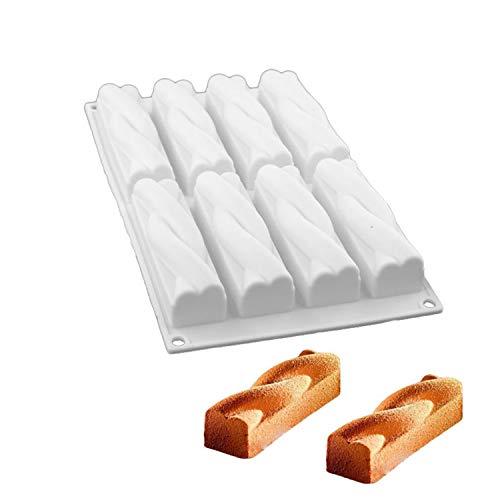 Aluminium Backblech 8 Cavity-Silikon-Form Twinkie Energy Bar Muffin Brownie Käseformen Schokolade Dessert Für Kuchen, der Werkzeuge,