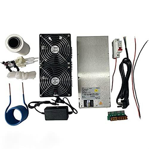 YBINGA Calefacción de inducción ZVS de 2500 W para placa de inducción y placa de circuito impreso de metal derretido + bobina Mayitr+ crisol + bomba+fuente de alimentación herramientas accesorios