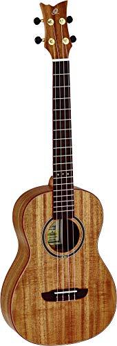 Ortega RUACA-BA Bariton Ukulele Acacia Series Gitarre, braun, Baritone