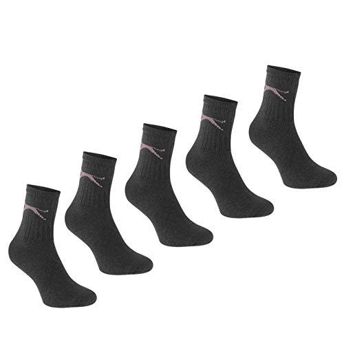 Slazenger Damen 5 Paar Socken Dunkel Asst Ladies 4-8