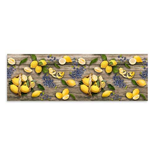 CASAbella Tappeto corsia Cucina Antiscivolo passatoia gommato Disegno Digitale MOD. Yuma (Limoni, cm 50x100)