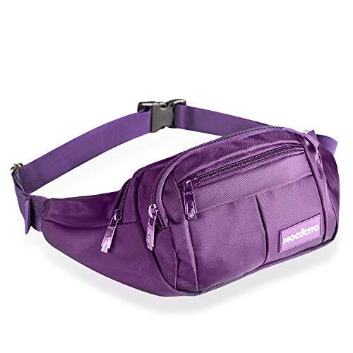MOCOCITO Wander-Hüfttaschen Bauchtasche Multifunktionale Hüfttasche für Reise Wanderung und Alle Outdoor-Aktivitäten für Damen und Herren Lila